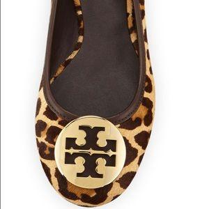 Tory Burch Leopard Cheetah Reva Ballet Flats